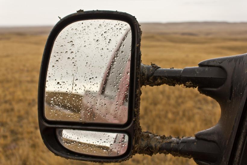 Lots of rain on a mule deer hunt