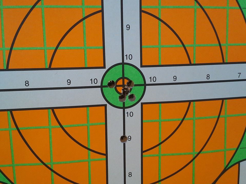 Luke Griffiths rifle practice at the range