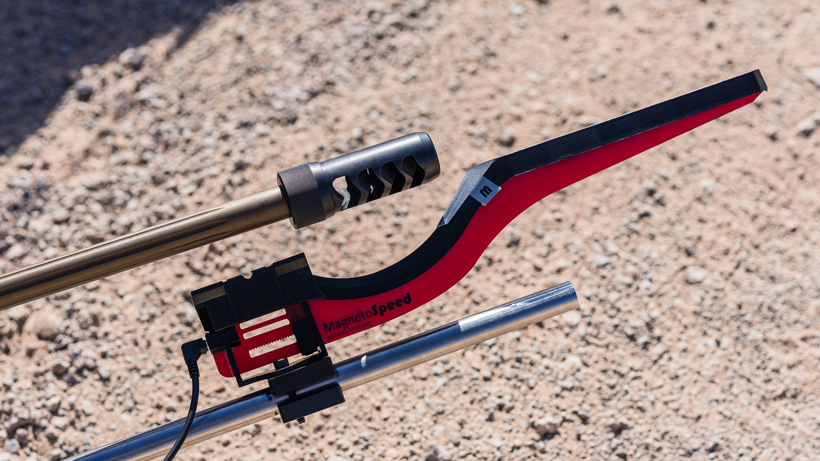 Magnetospeed bayonet on MK Machining Gen III mount