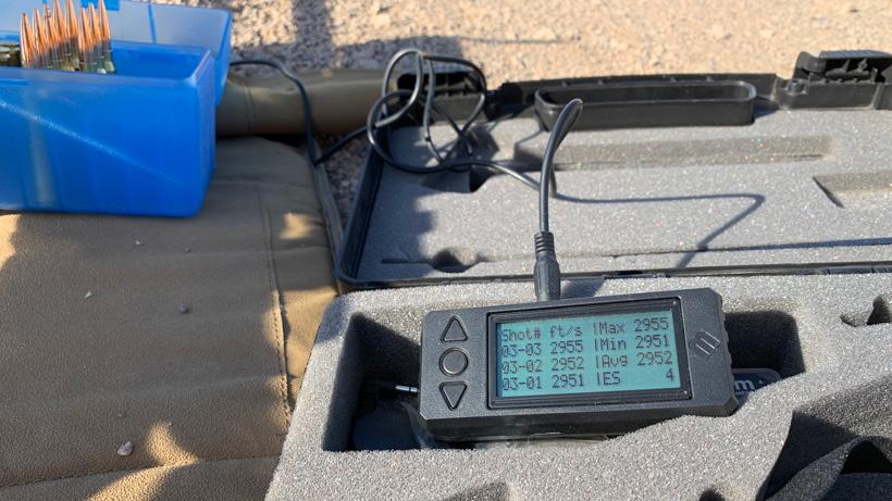 Magnetospeed chronograph collecting data