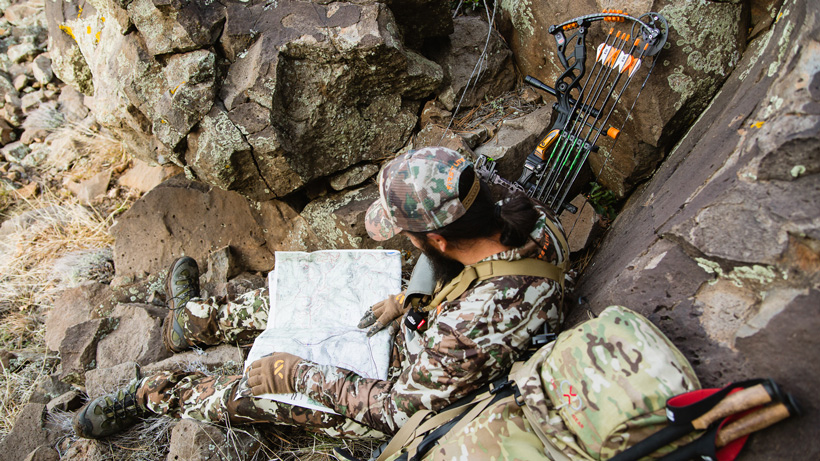 Making a plan while hunting and scouting