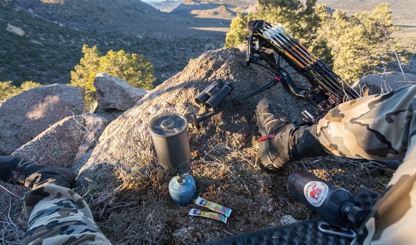 Making coffee while hunting