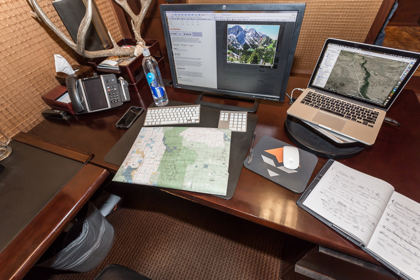 Maps computer and goHUNT INSIDER for finding hunting spots