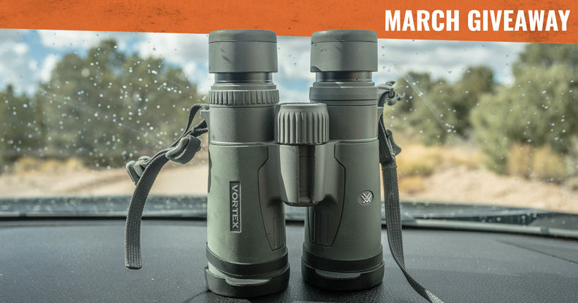 March Vortex Razor HD 10x42 binocular giveaway
