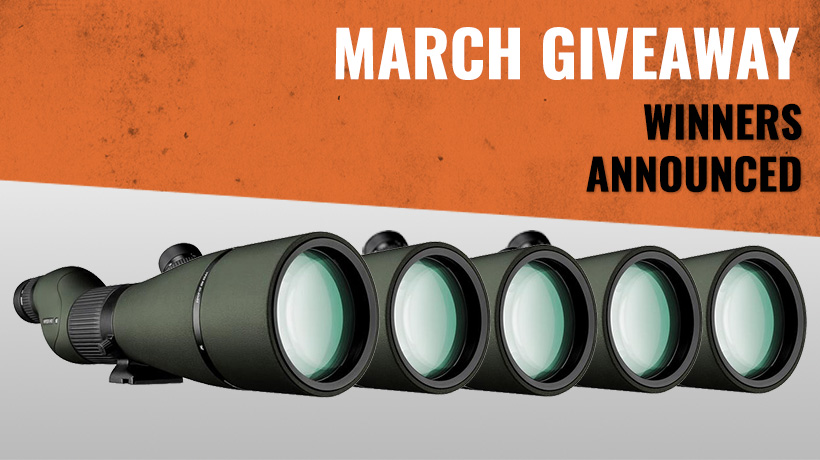 March Vortex Viper HD spotting scope winners