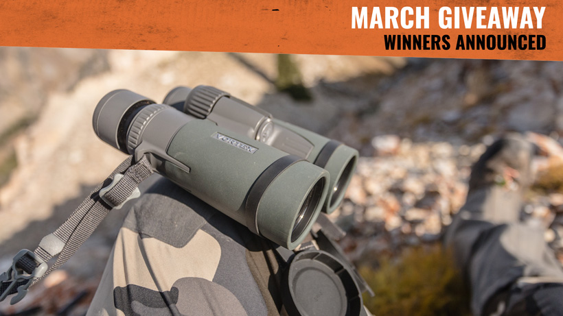 March Vortex binocular giveaway winners