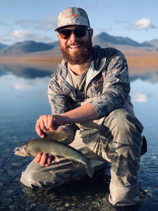 Marcus Gores with Alaska grayling