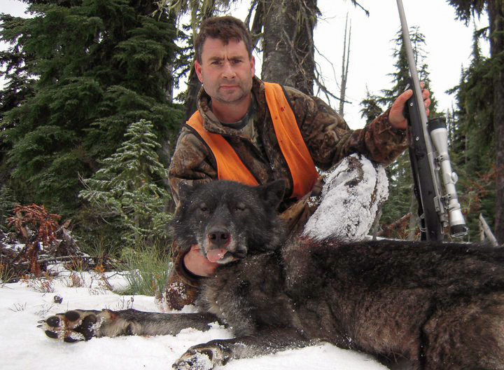 Mark ODay with his 2009 Montana wolf