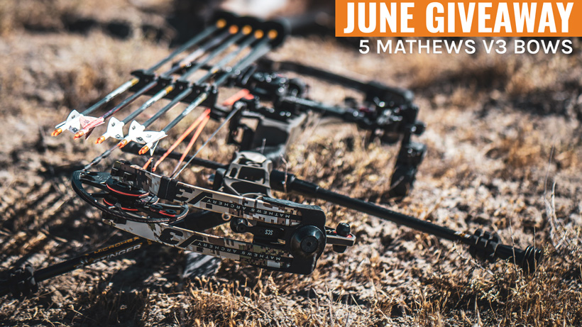 June INSIDER Giveaway: 5 Mathews V3 Bows