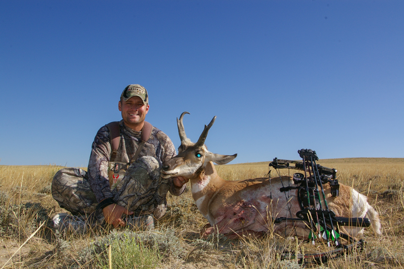 Matt Palmquist with his archery antelope buck