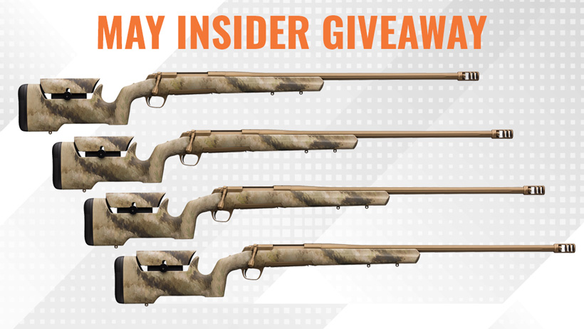 May INSIDER giveaway Browning X-Bolt Long Range Max rifles