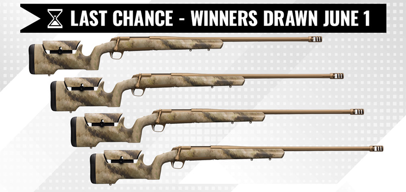 Browning X-Bolt rifle giveaway last chance