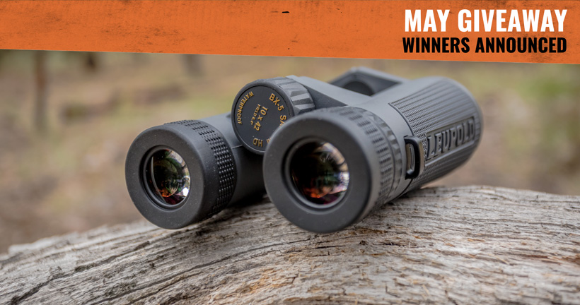 May Leupold binocular INSIDER Giveaway winners