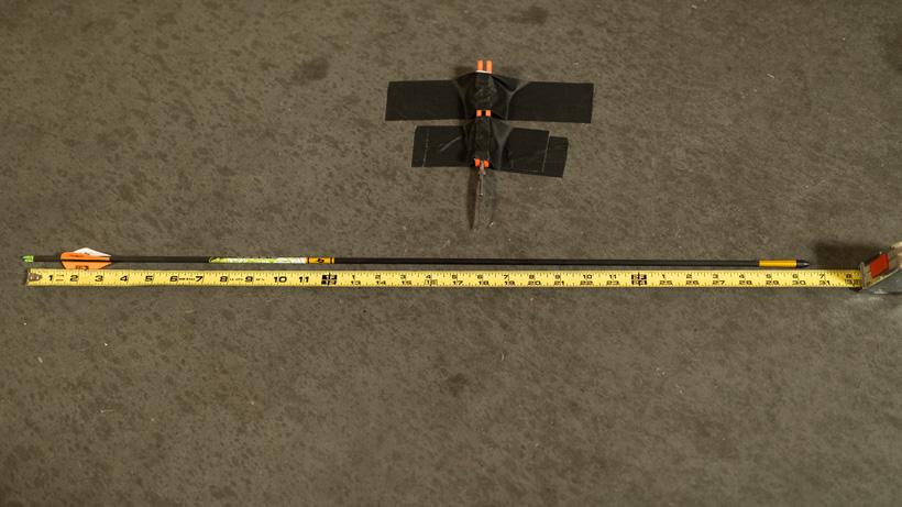 Measuring an arrows overall length