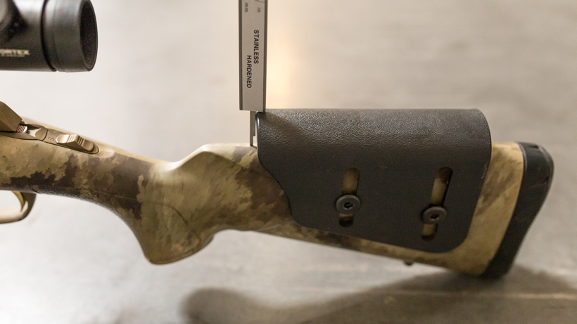 Measuring rifle cheek piece height