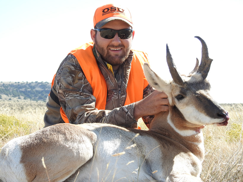 Michael Hollie with his 2016 Colorado antelope