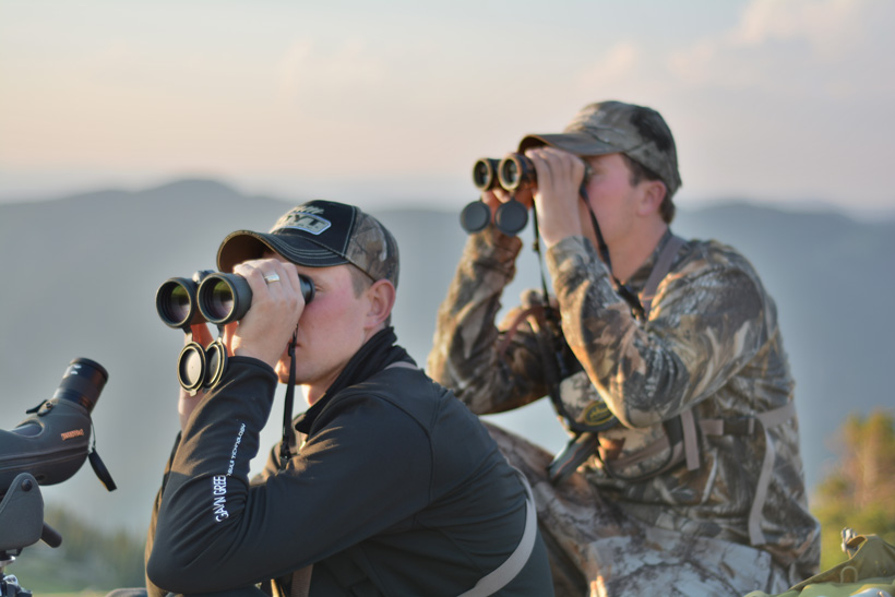 Mike and BJ glassing for bucks