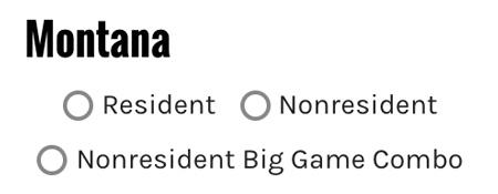 Montana draw odds options