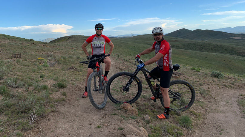 Ryan Honea mountain biking