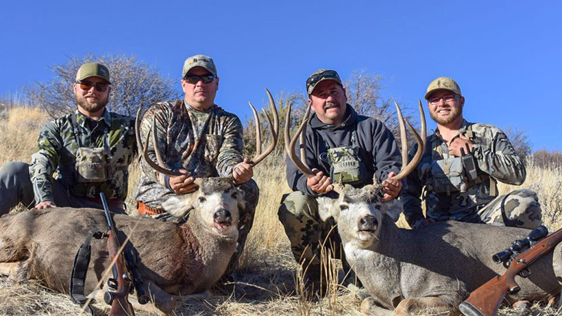 Mule deer bucks taken with Secret Pass Outfitters