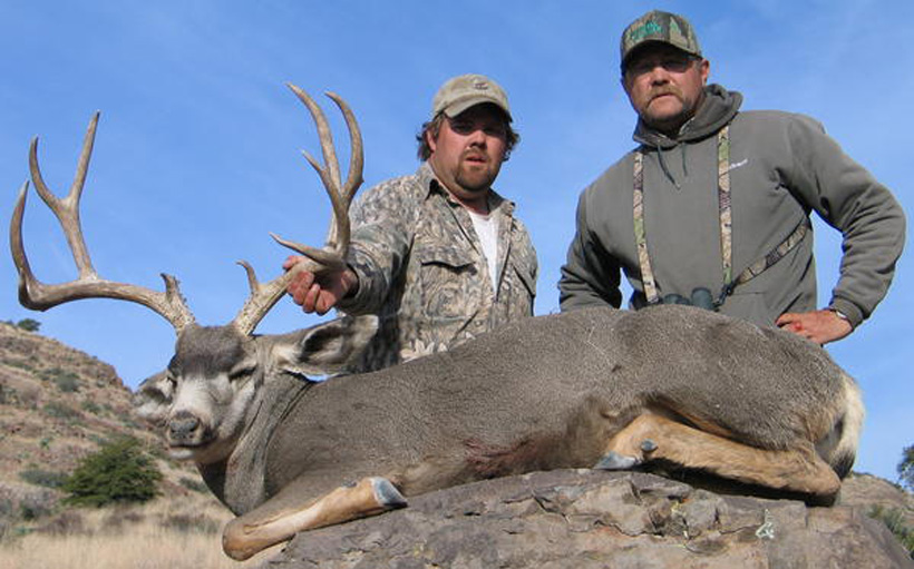 Mule deer taken with beaverhead outfitters