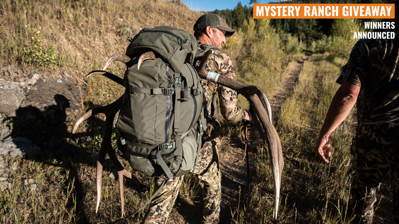 Mystery Ranch Beartooth backpack giveaway winners announced