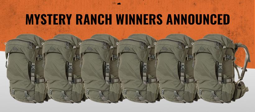 Mystery Ranch pop up 38 winners