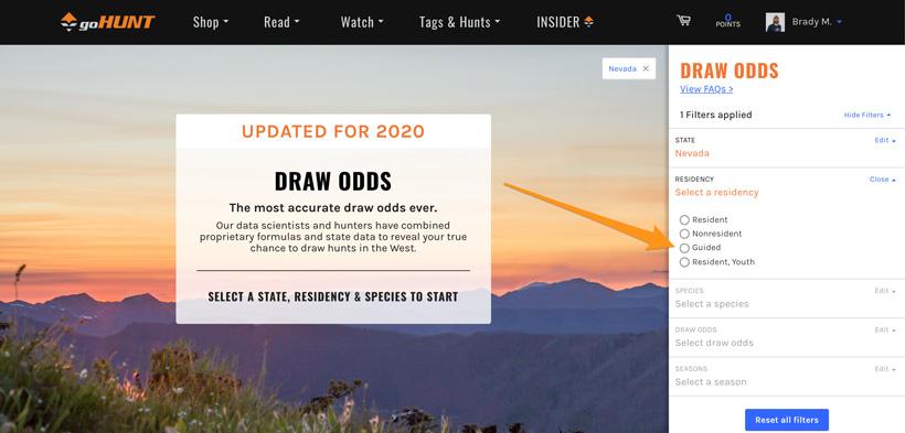 Nevada guided mule deer draw odds