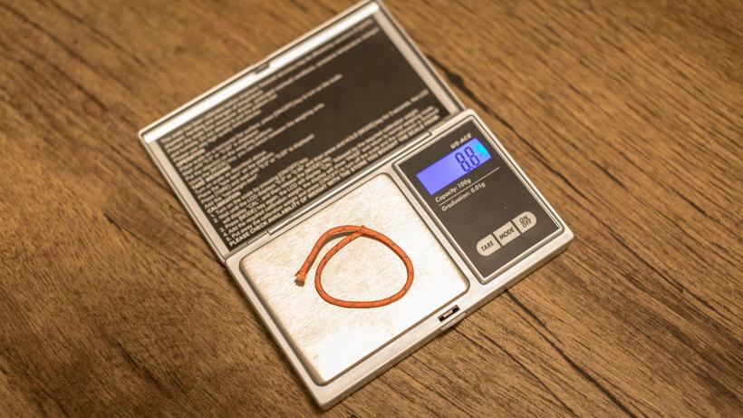 New zipper pull p-cord weight