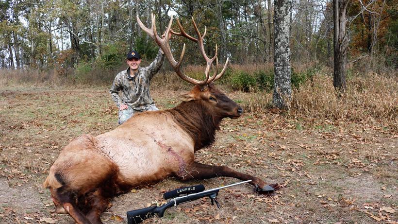 Nick Turpin with his 2017 Arkansas bull elk