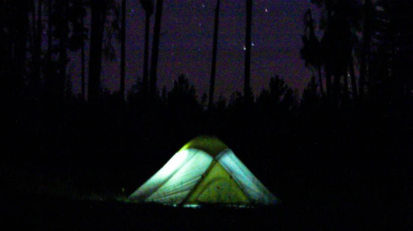 Night camp photo