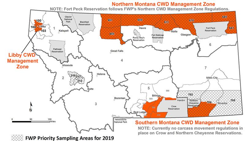 Northern Montana CWD Management Zone
