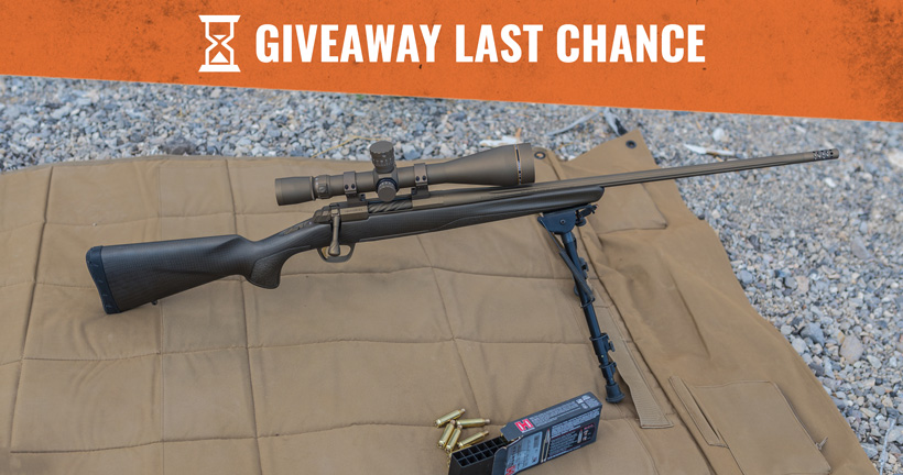 November Browning X-bolt pro long range rifle giveaway last chance