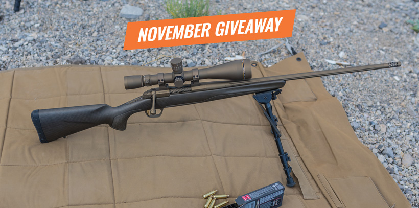November Browning X-bolt pro long range rifle giveaway main