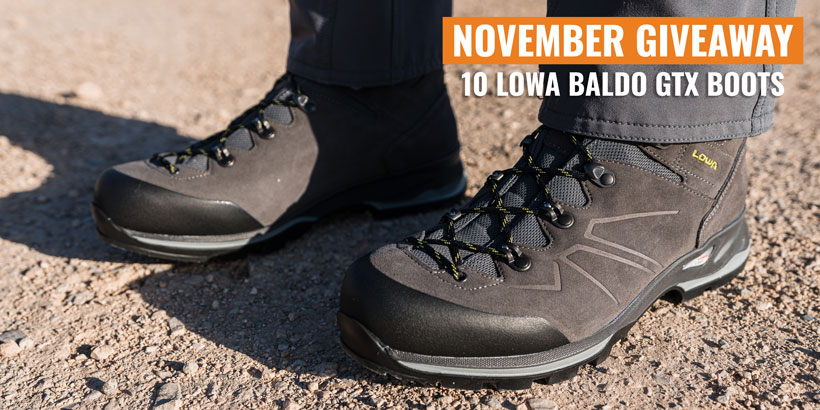 November Lowa baldo gtx boot giveaway