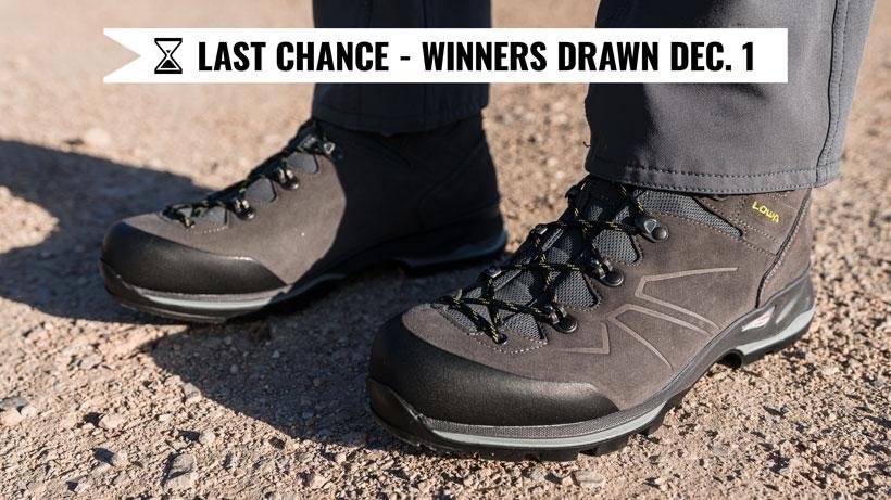 November Lowa boot giveaway last chance