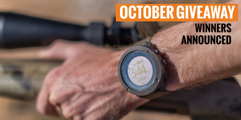 October INSIDER Suunto watch giveaway winners