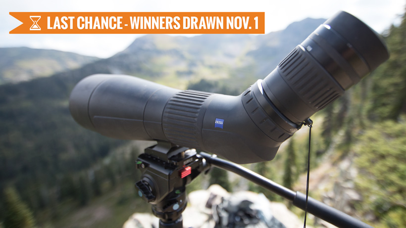 October INSIDER giveaway Zeiss Conquest Gavia spotting scope last chance