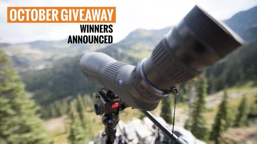 October INSIDER giveaway Zeiss Conquest Gavia spotting scope winners