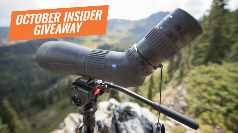 October INSIDER giveaway Zeiss Conquest Gavia spotting scope