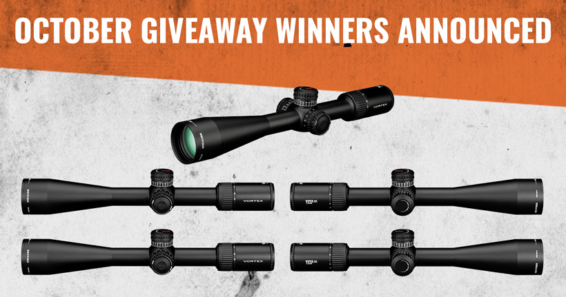 October Vortex riflescope INSIDER giveaway winners
