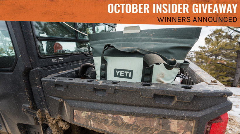 October INSIDER Giveaway Winners Announced