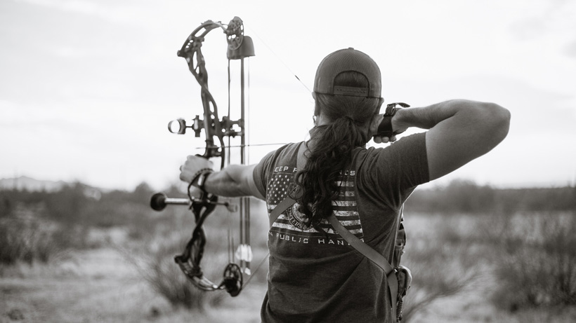 Offseason bowhunting practice