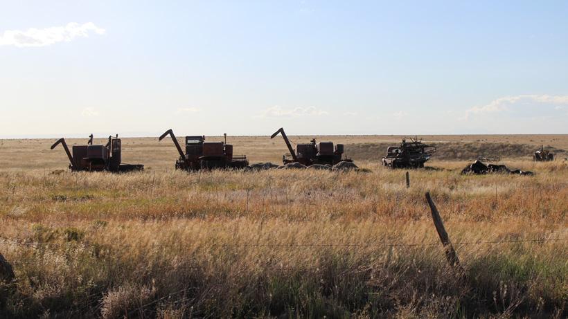 Old farm machinery in Colorado