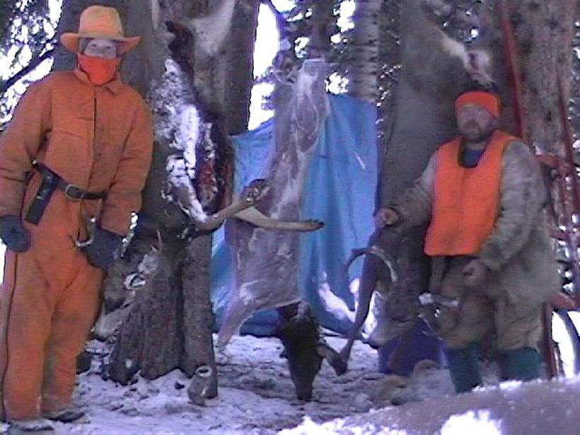 Old hunting picture of Brett Ross and his dad