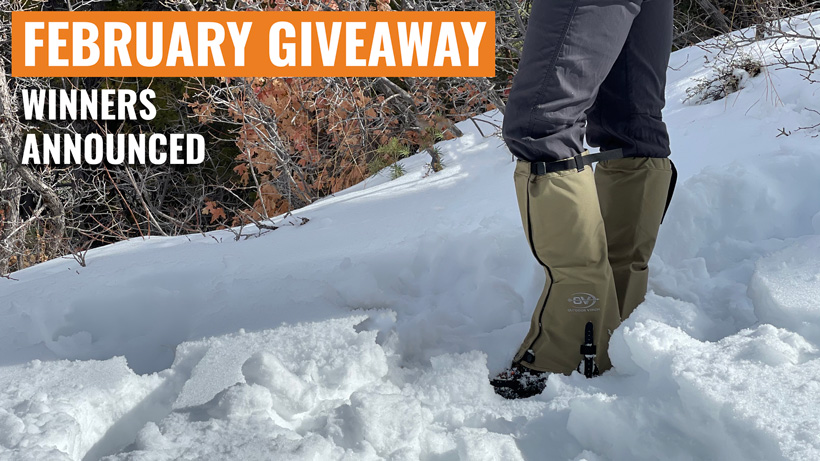 Outdoor Vision giveaway winners