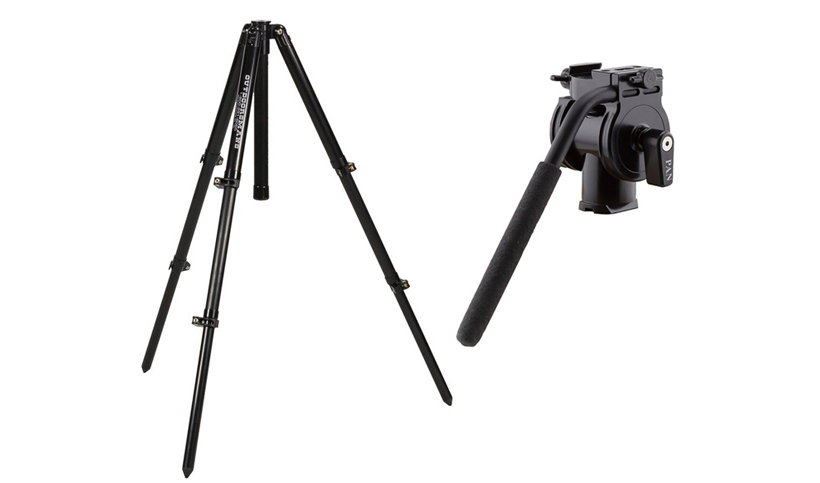 Outdoorsmans tripod and pan head