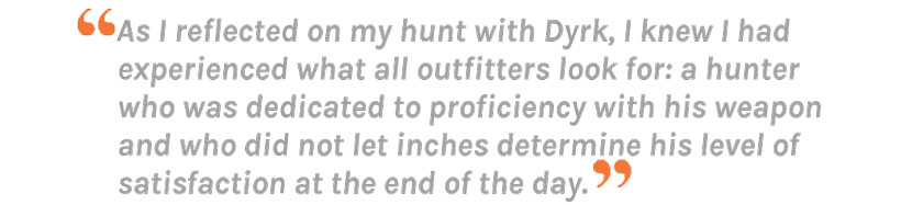 Outfitter quote from Hoby Gartner