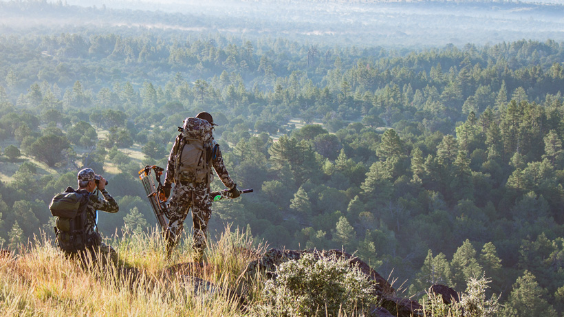 Overlooking a new hunting location