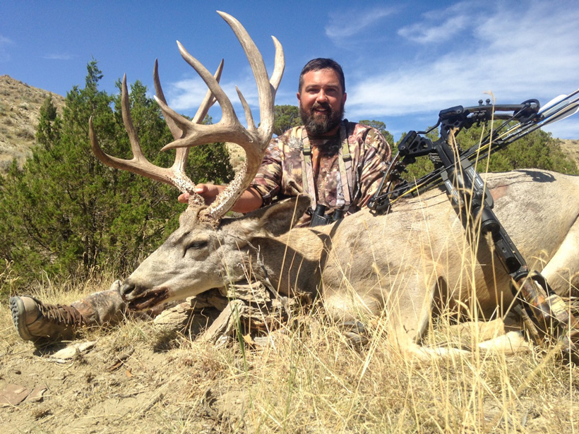 Owen Kimberling with his 2015 Wyoming mule deer taken with a crossbow